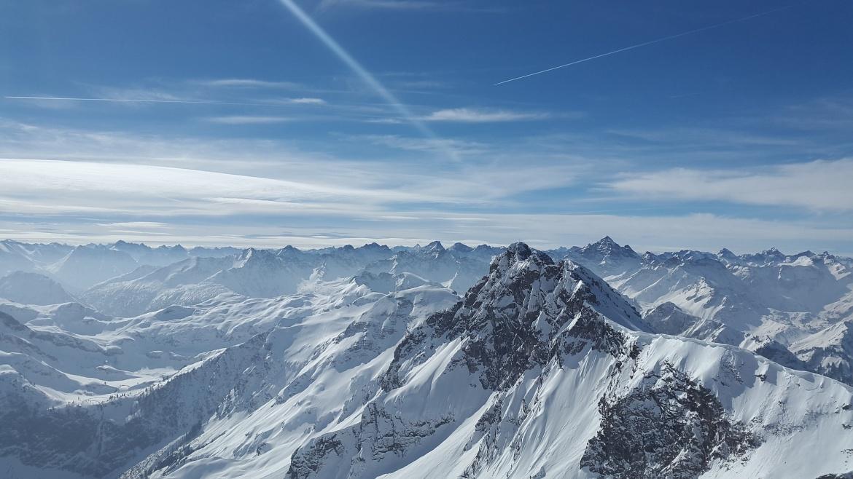 New snow across the Alps!